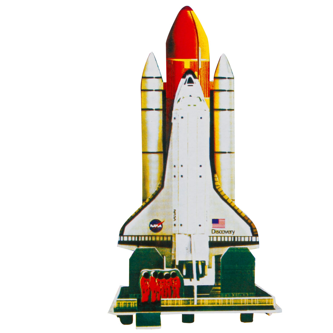 4 Sheets Technological Space Shuttle Discovery 3D Jigsaw Puzzles Toys for Kid