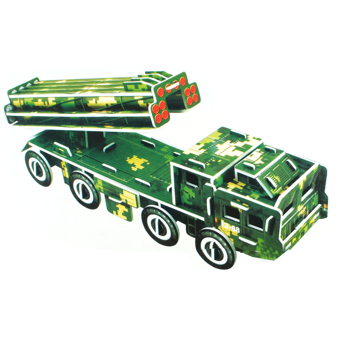 Kids 3D Model Military Truck Foam Paper Puzzle DIY Intelligence Toy
