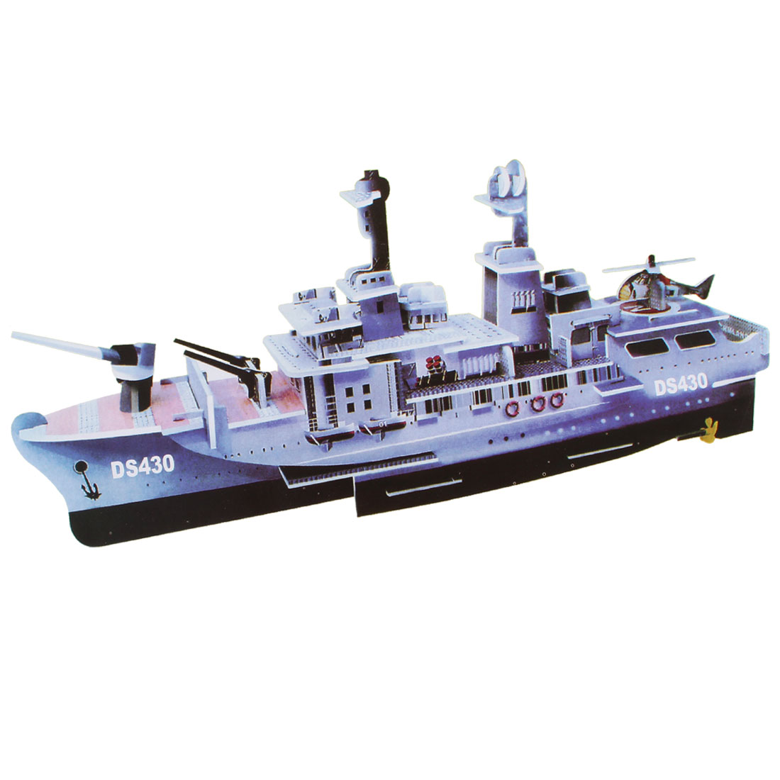 3D Model Ship Foam Paper Puzzle DIY Intelligence Toy