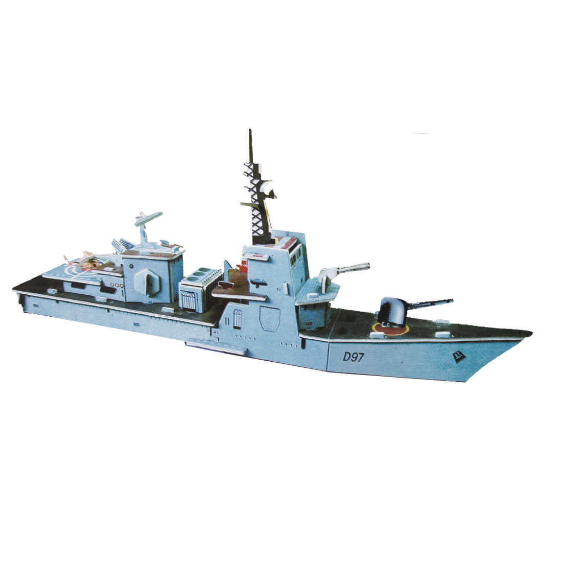 4 Sheets Noks Frigate 3D Model Puzzles Toy for Child