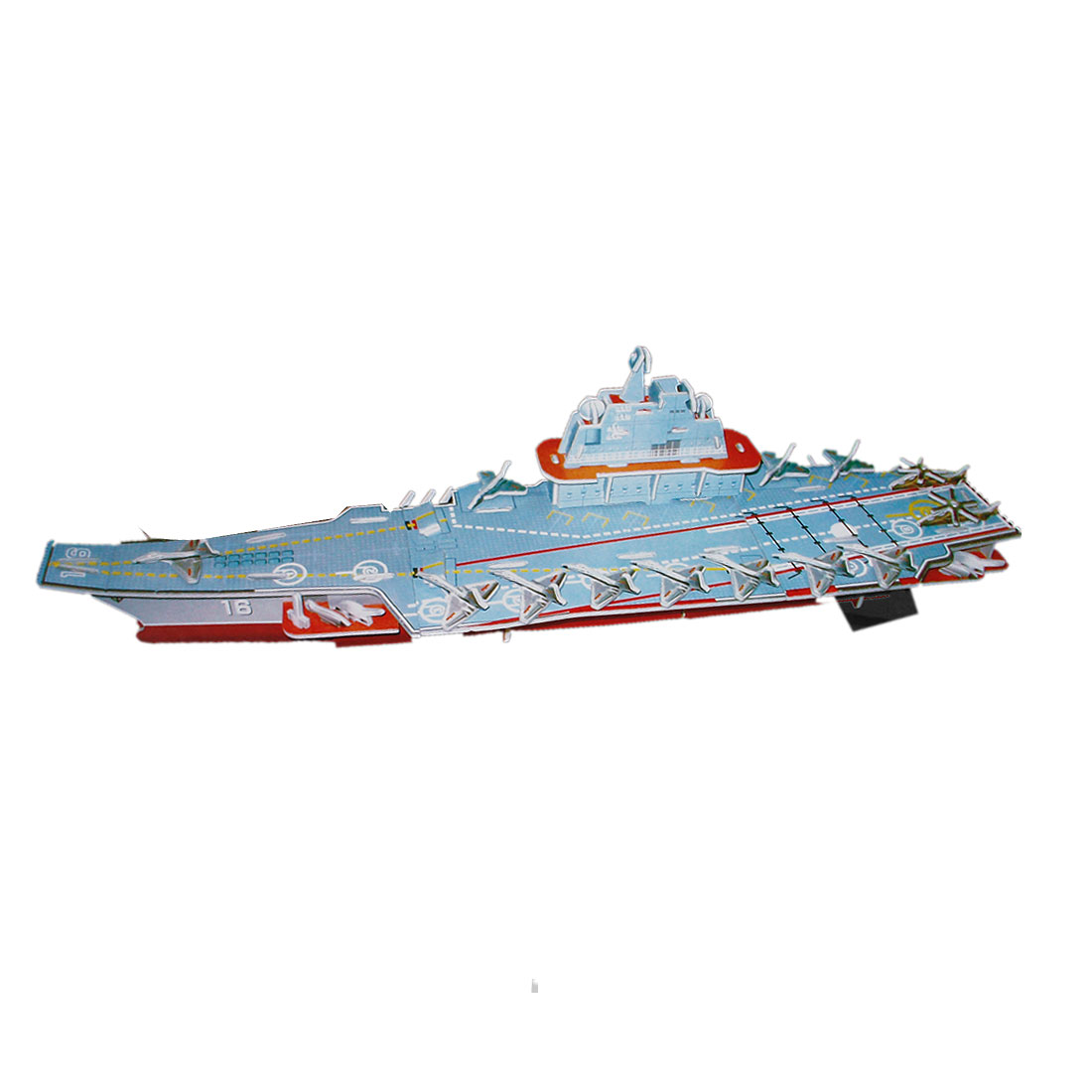 Child Technological Liaoning Aircraft Carrier 3D Model Puzzles Toy 4 Sheets