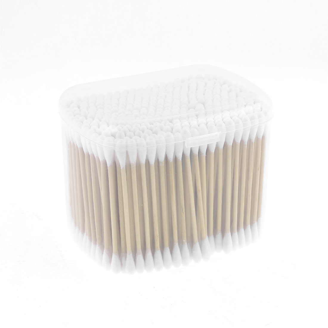 Cosmetic Disposable Double End Cotton Swab Bud Rod White 350pcs w Plastic Case