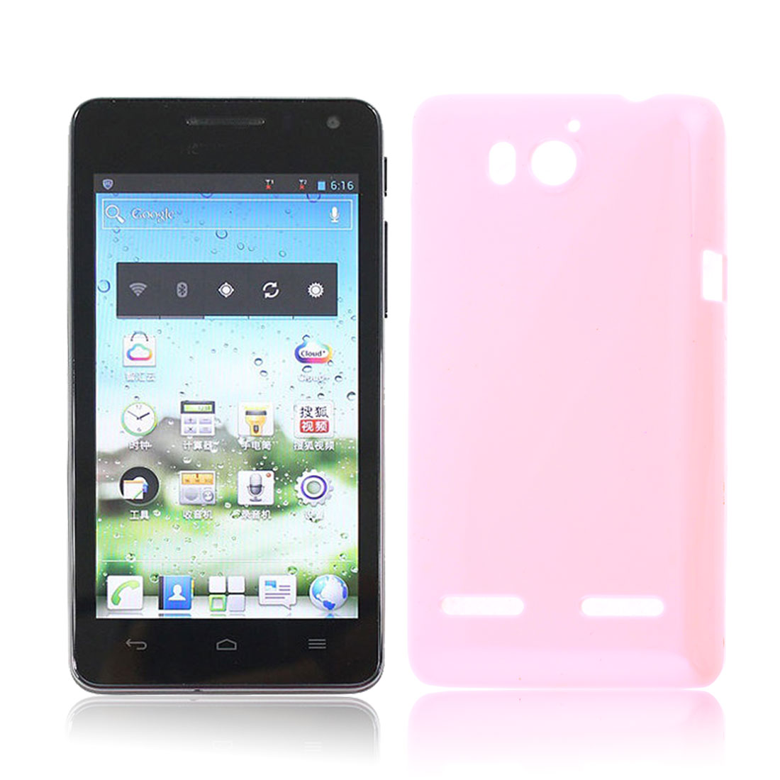 Pink Hard Plastic Back Case Cover Protector for HuaWei U8950D