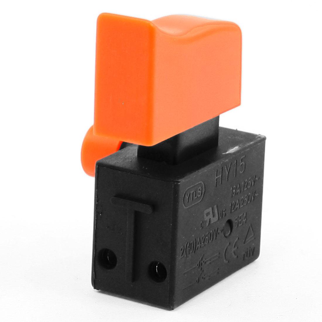 18A 125VAC 12A/2A/10A 250VAC 2NO DPST Self Locking Trigger Switch