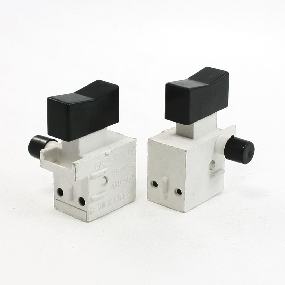 2 Pcs 1NO 1NC Double Pole Single Throw Self Latching Power Tool Switch AC250V 4A