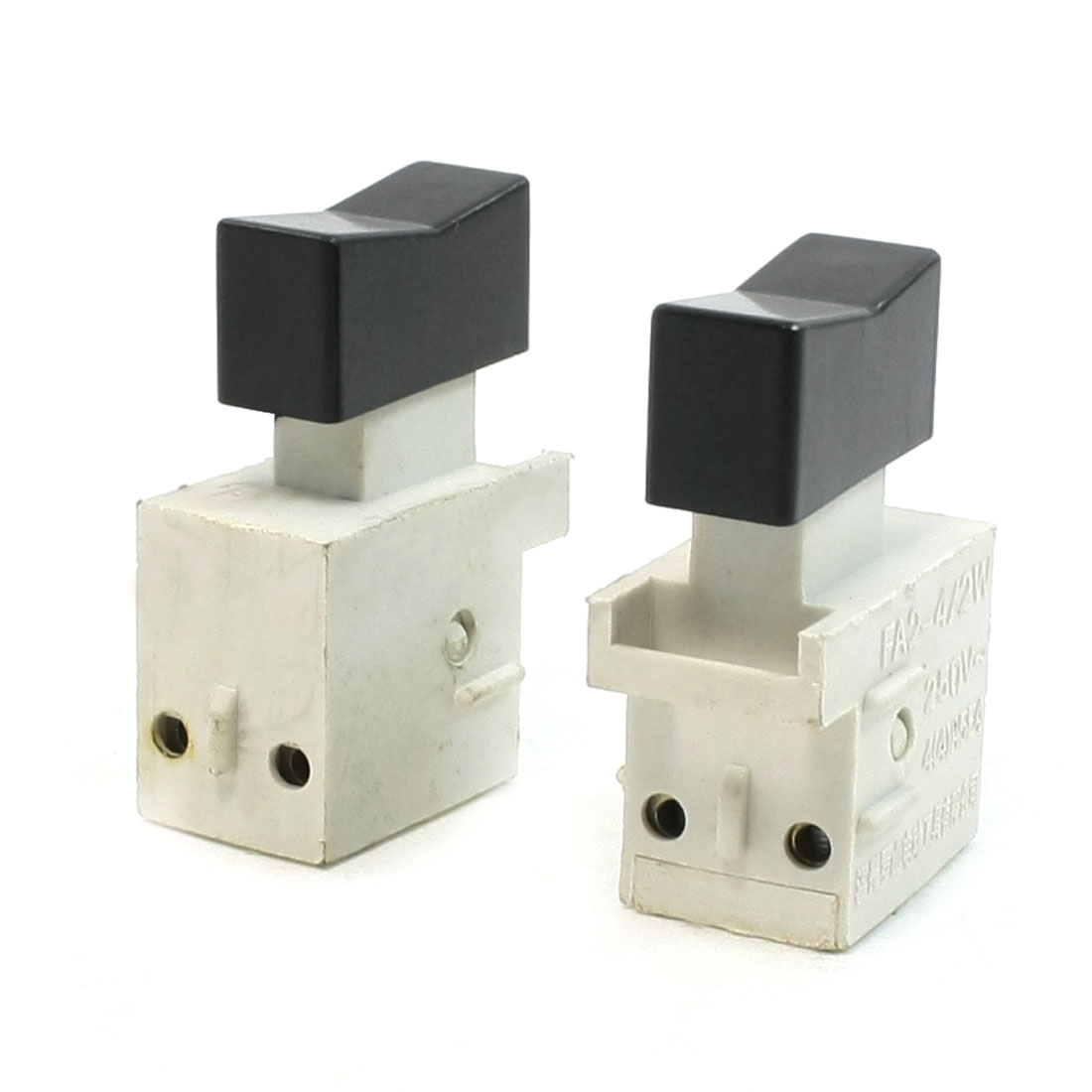 2 Pcs DPST Push Button Trigger Switch AC 250V 4A for Power Tool