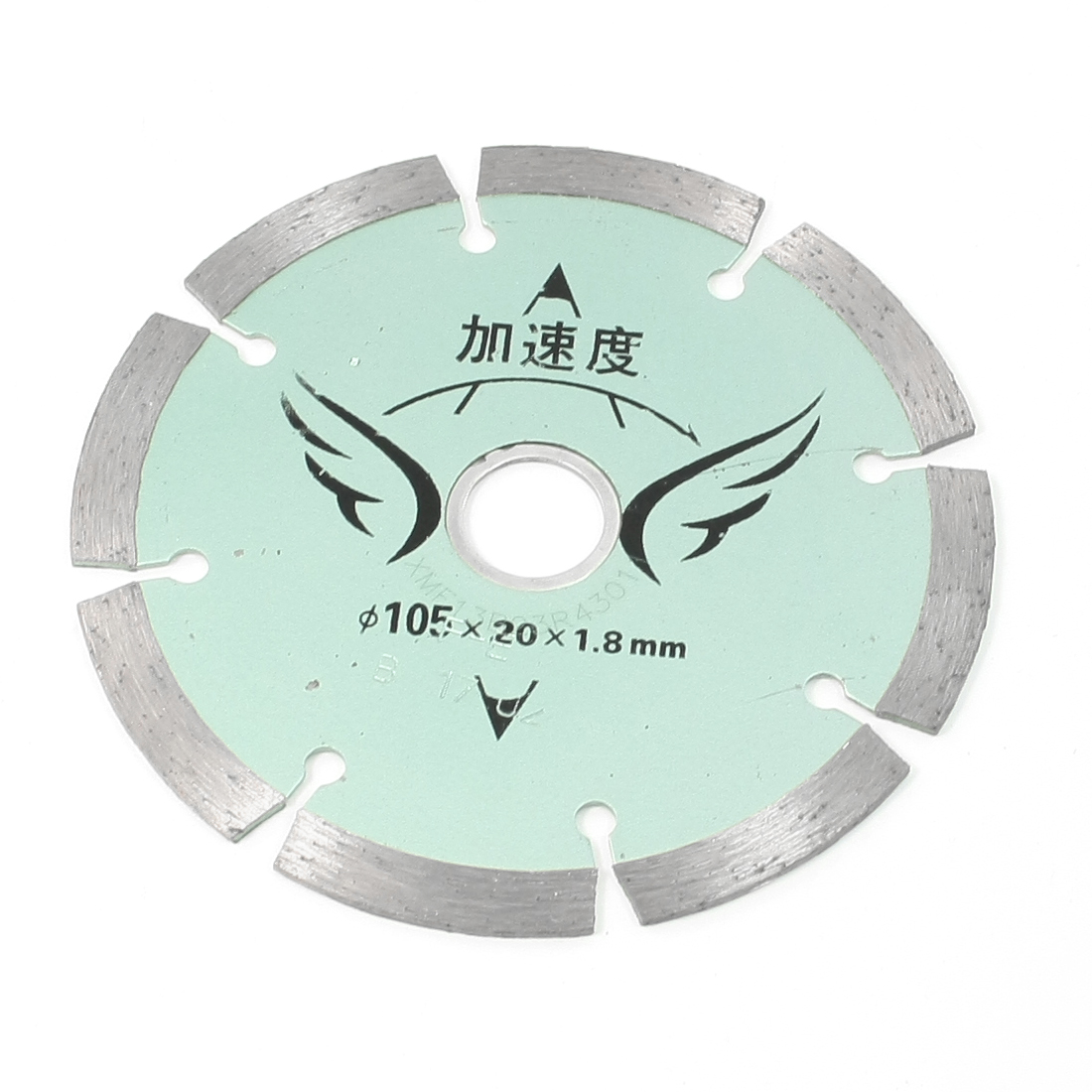 Concrete Tile Cutting Wheel 8-Segment Metal Disc Flake105mm x 20mm x 1.8mm