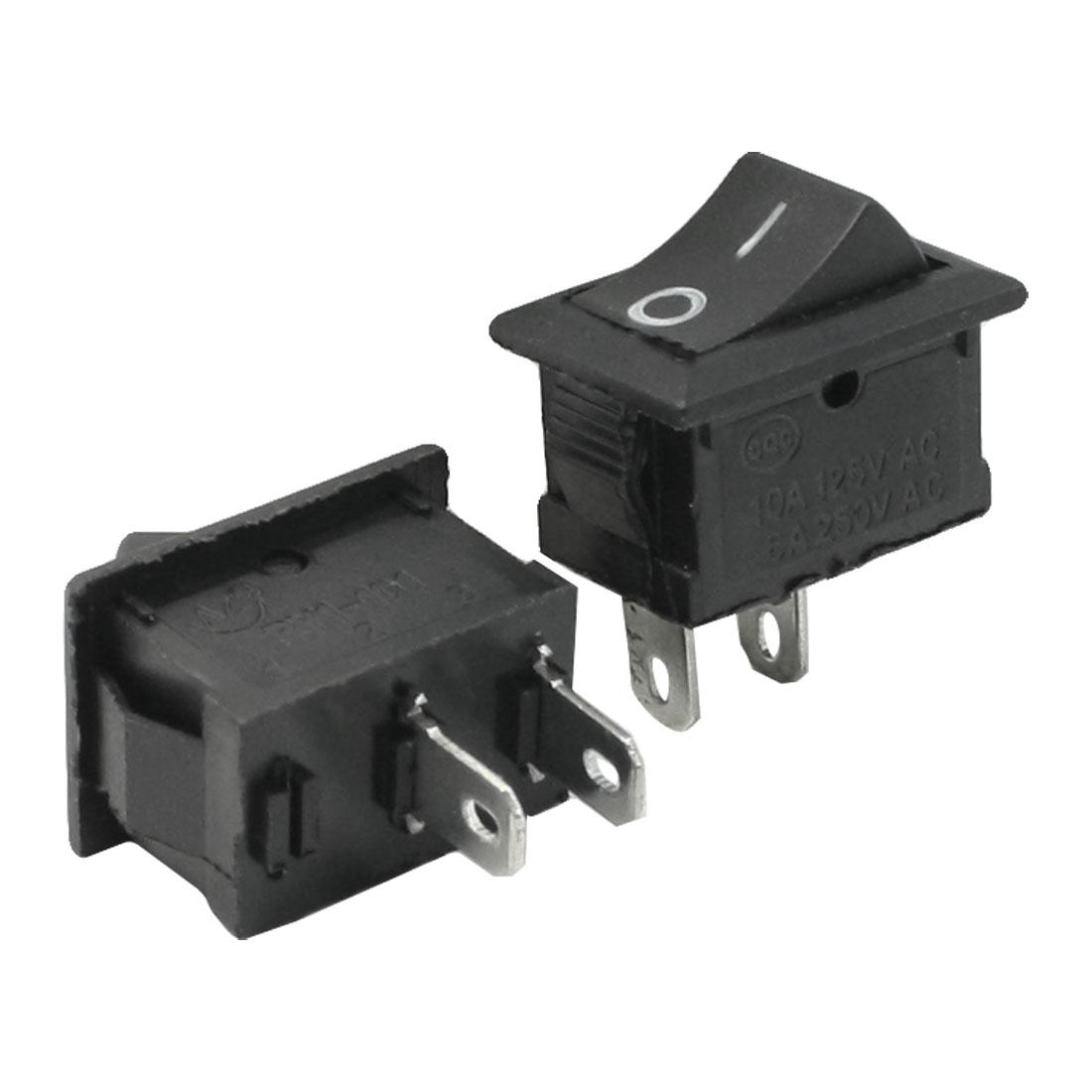 2 x Plunge Router AC 250V/6A 125V/10A Single Pole ON/OFF Rocker Switch