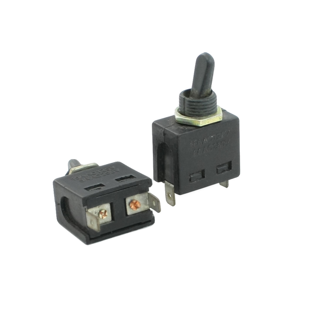 Panel Mounting N.O 2 Terminals SPST ON-OFF Toggle Switch 8A/250VAC 15A/125VAC