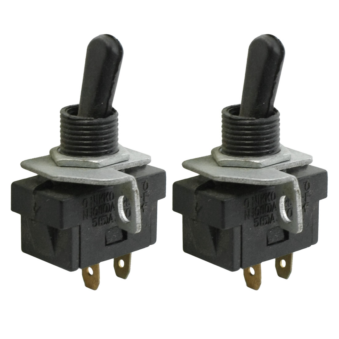 2 Terminals ON-OFF SPST N/O Toggle Switch 5A 250VAC 10A 125VAC