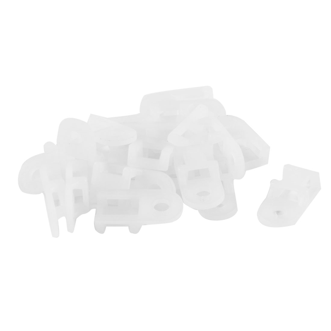 20 Pieces Off White Plastic Wire Bundle Cable Tie Mount Saddle Base