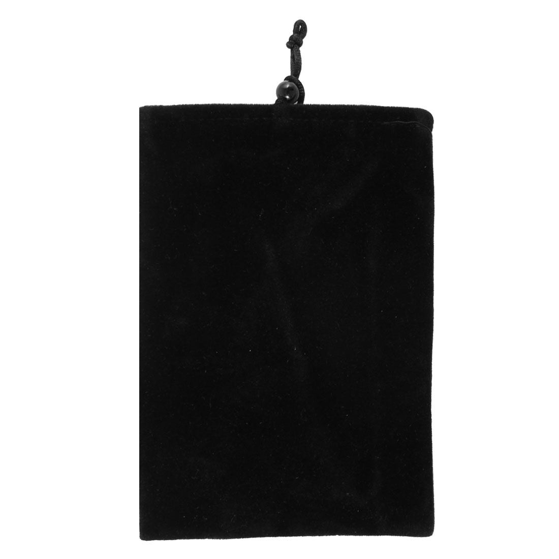 Black Velvet Drawstring Pouch Pocket Cover Sleeve Case for Mobile Phone