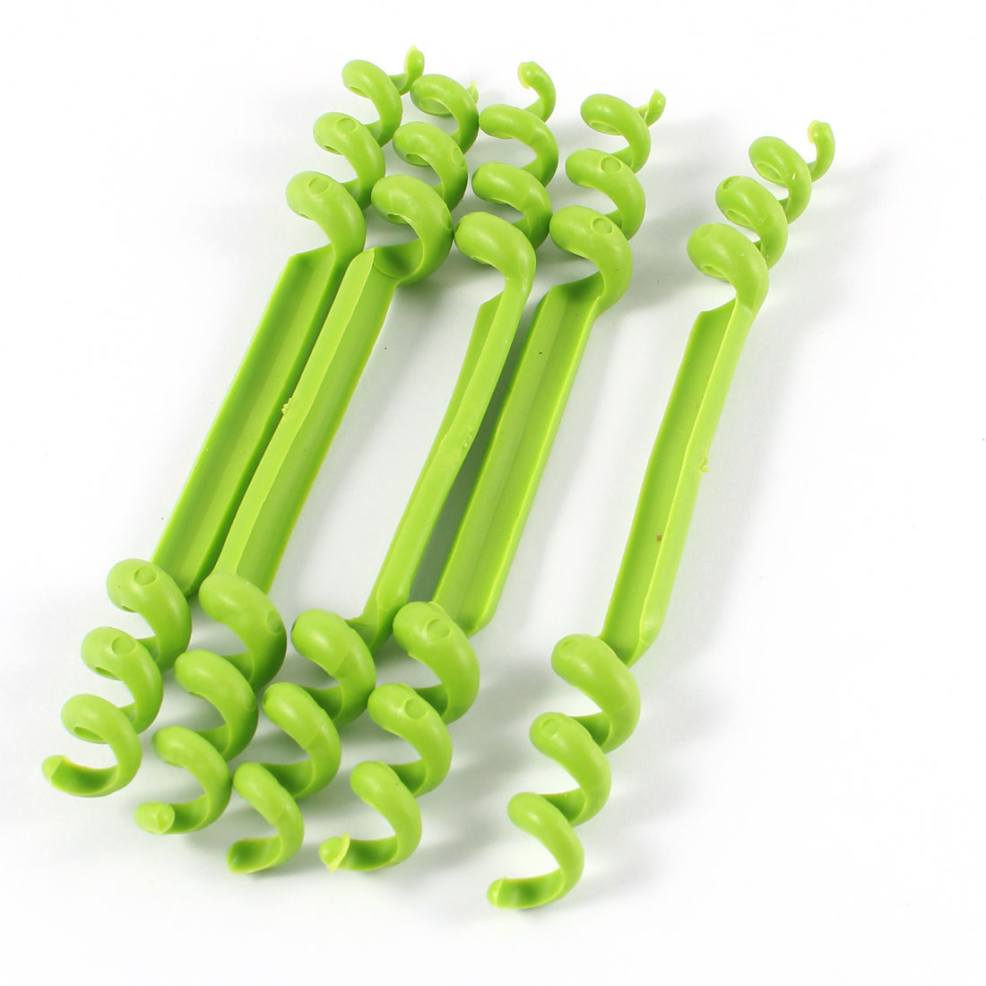 5 Pcs Green Plastic Flexible Spiral Cable Wire Identification Marker