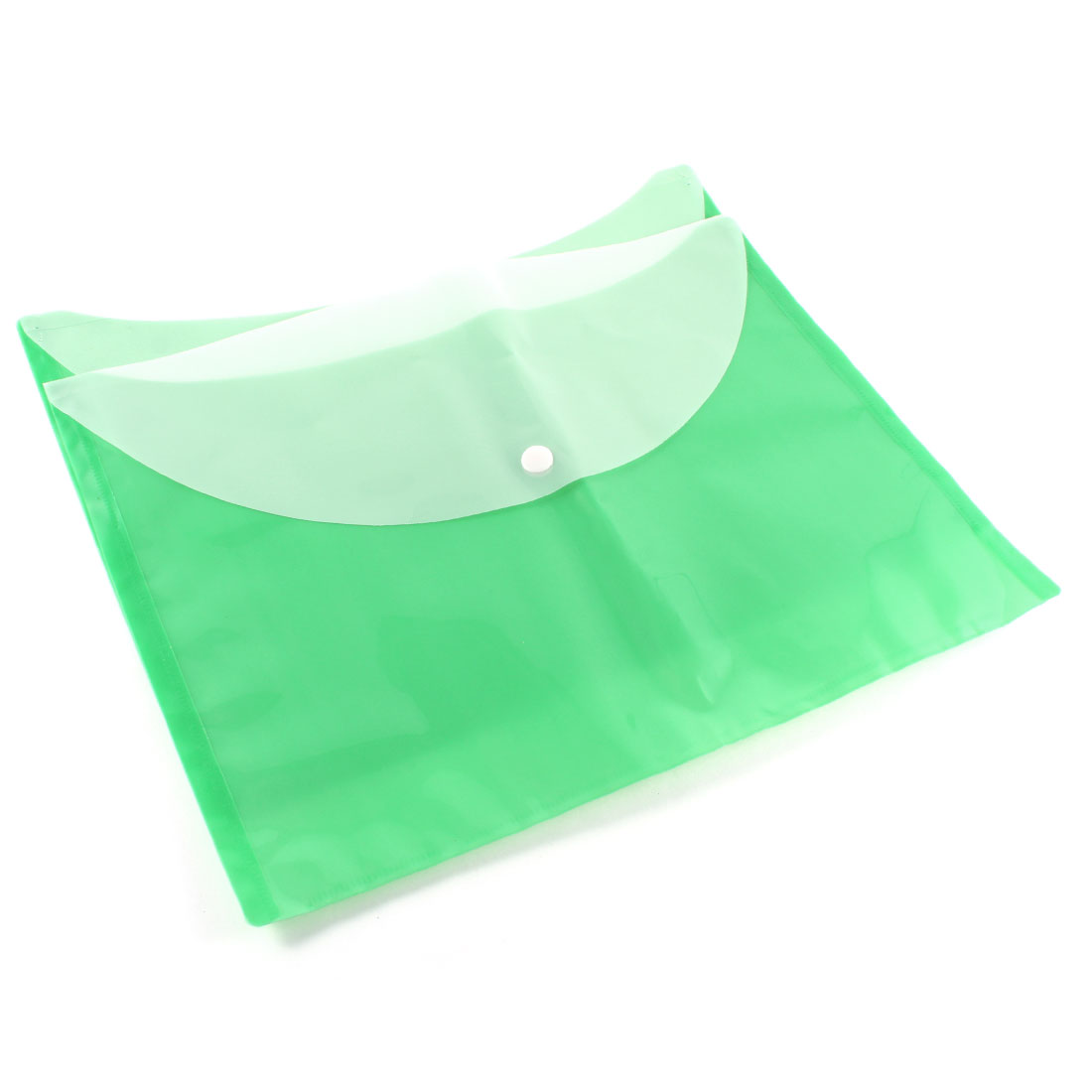 2 Pcs Green Plastic A4 Paper Document Filing File Case Bag Folder Holder