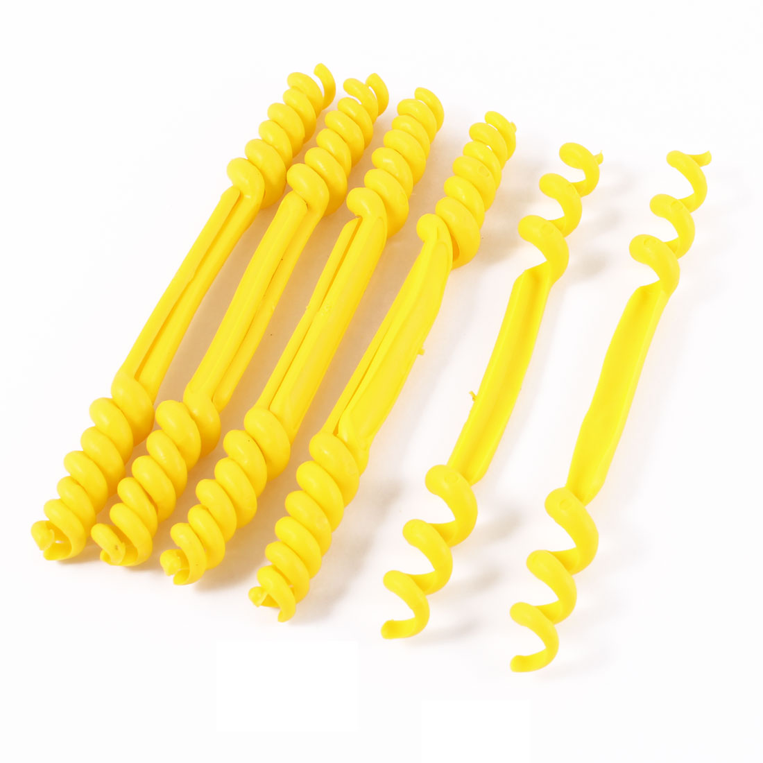 10 Pcs Yellow Plastic Flexible Spiral Cable Wire Identification Marker