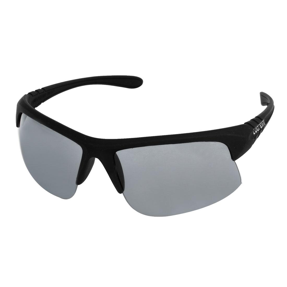 Outdoor Sports Plastic Half Rim Gray Lens Sunglasses Eyewear for Lady