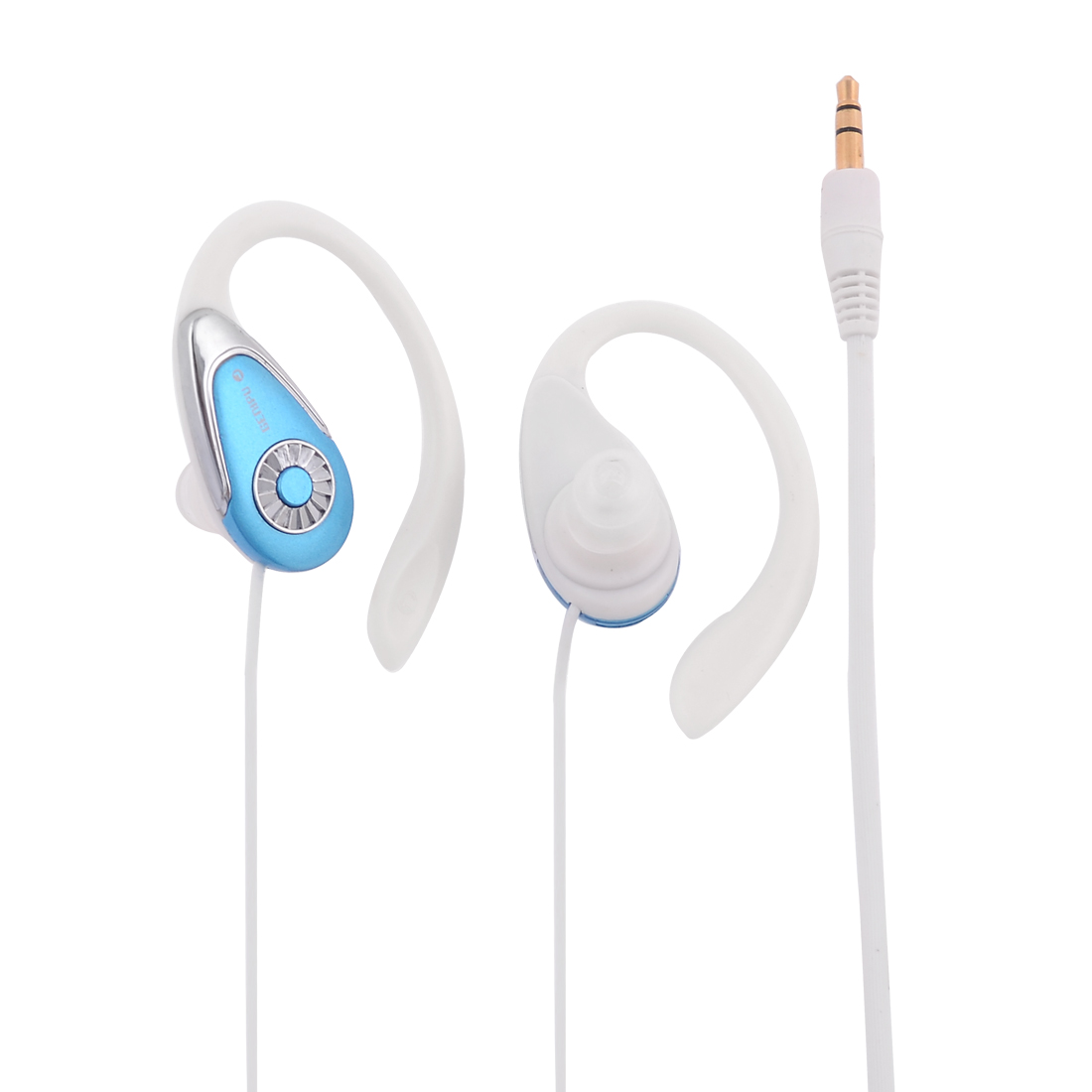 White Blue Soft Cable 3.5mm In Ear Earbuds Earphone for Cell Phone MP3 MP4