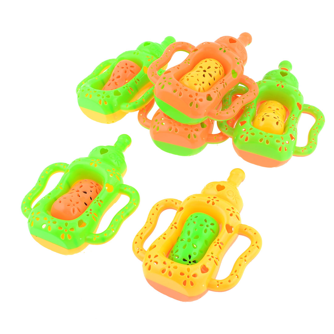 6 PCS Colorful Kettle Shape Flower Hole Desigh Hand Bassinet for Baby