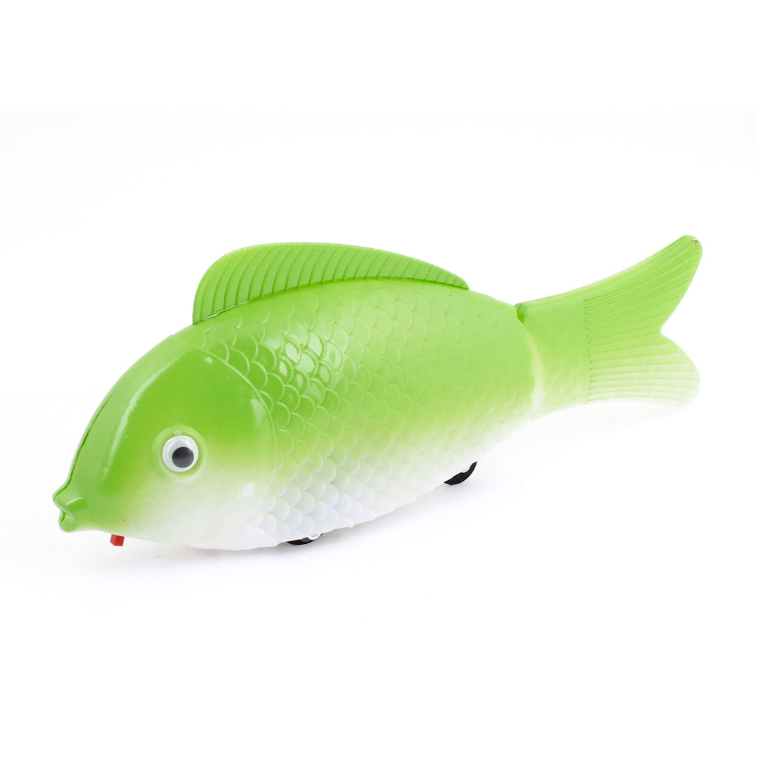 Children Green White Plastic Fish Design Moving Toy