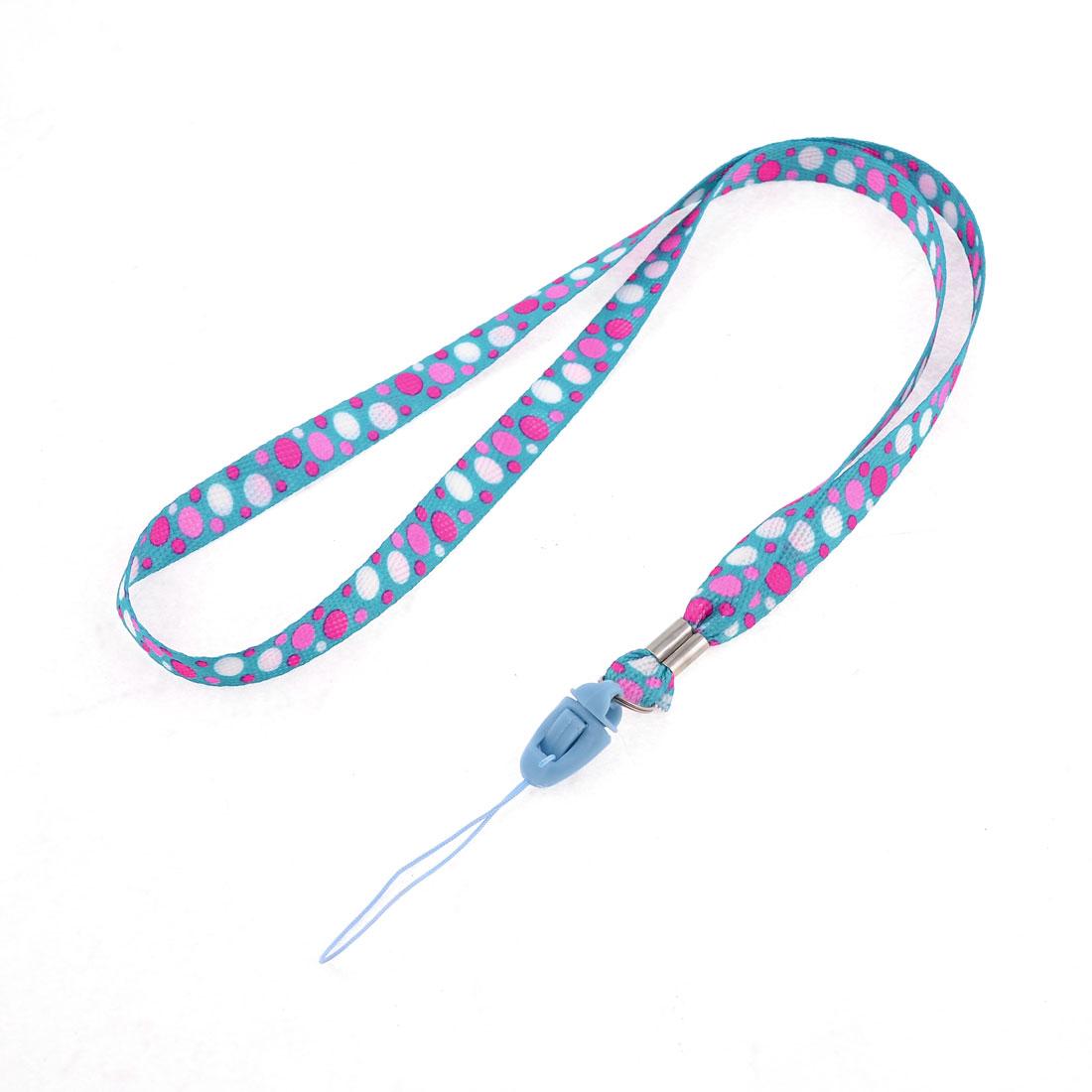 "16.5"" Long Colorful Dot Pattern Nylon Neck Lanyard"