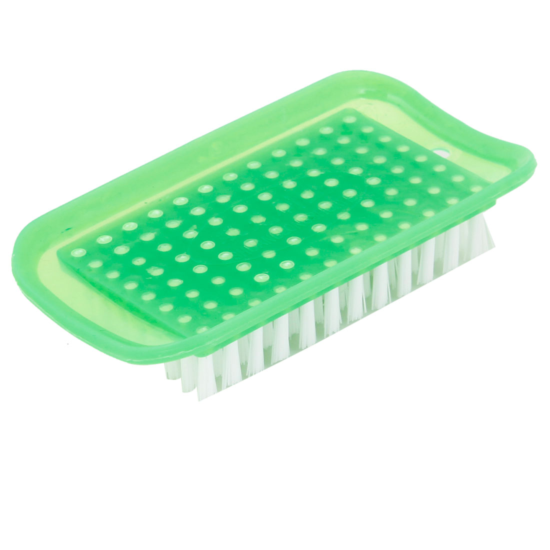 Light Green Rectangle Shaped Plastic Household Laundry Brush