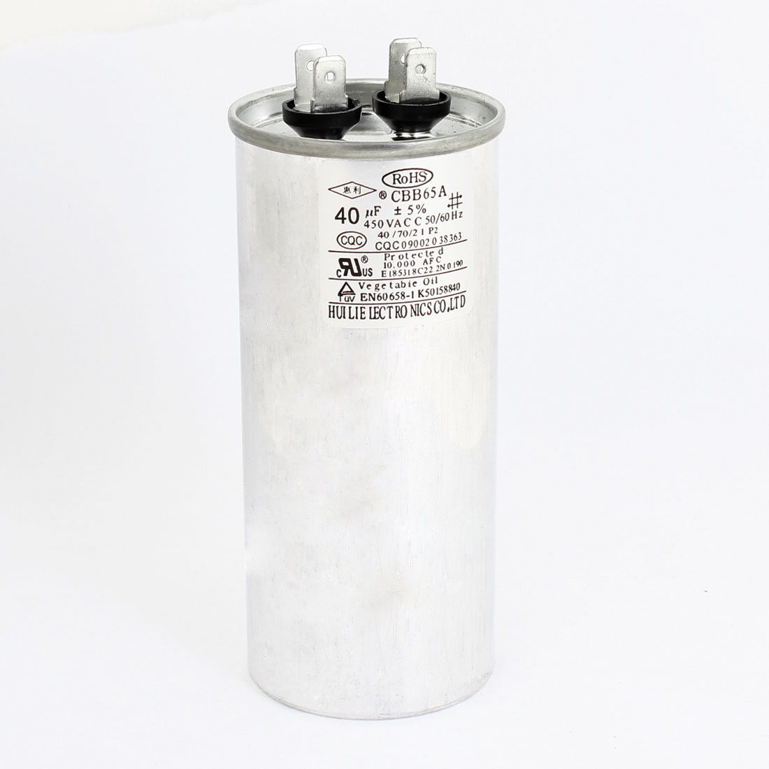 CBB65A AC450V 40uF Polypropylene Film Motor Run Capacitor for Air Conditioner