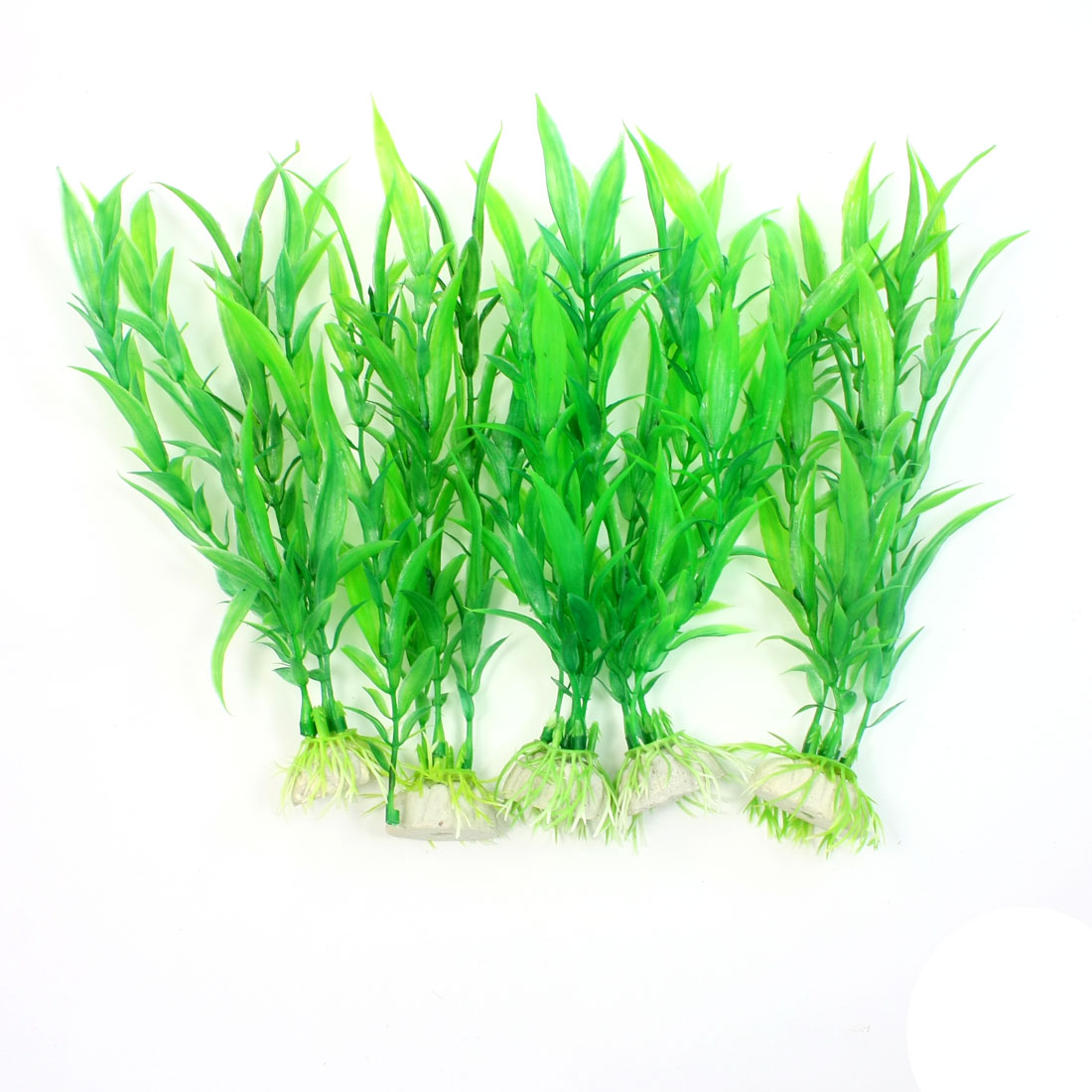 "5 Pcs 6.9"" Green Simulation Underwater Plant Grass for Fish Tank"
