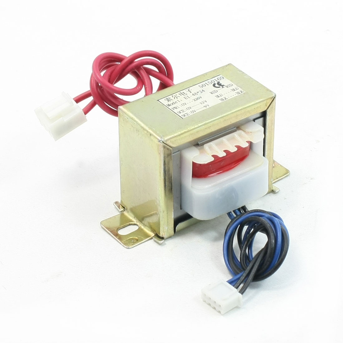 220VAC to DC 9V 0.65A EI Core Vertical Mounted Electric Parts Supply Transformer