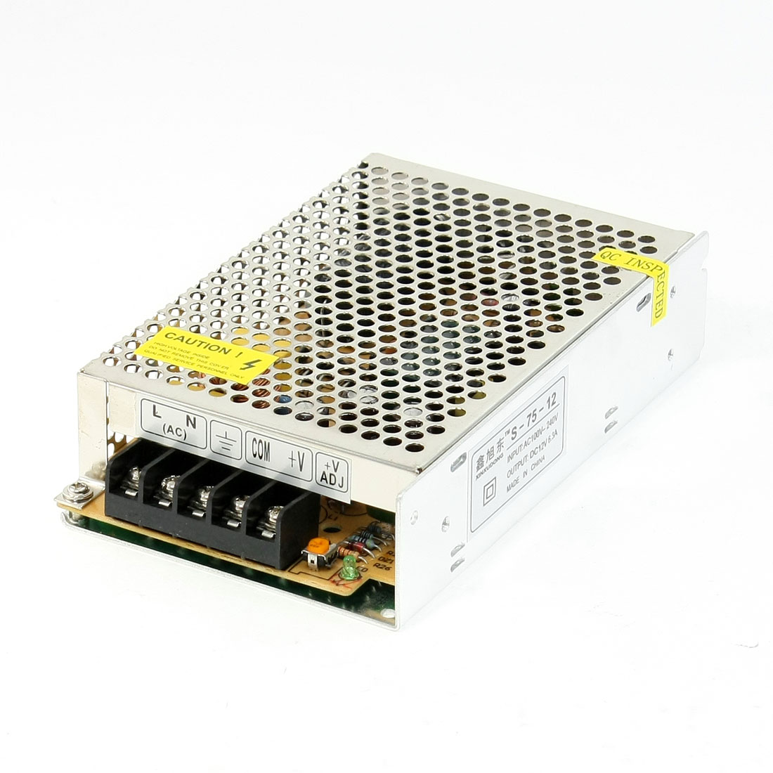 100-240VAC to DC 24V 6.3A 75W Supply Power Convertor for LED Illumination