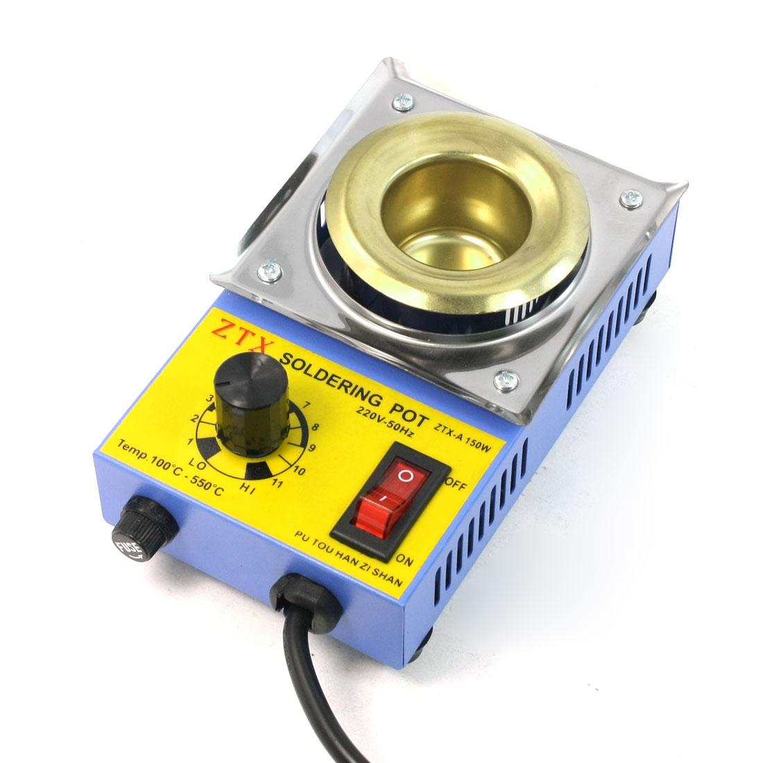 AU Plug AC 220V 150W 100C to 550C Temperature Adjustable Solding Solder Pot