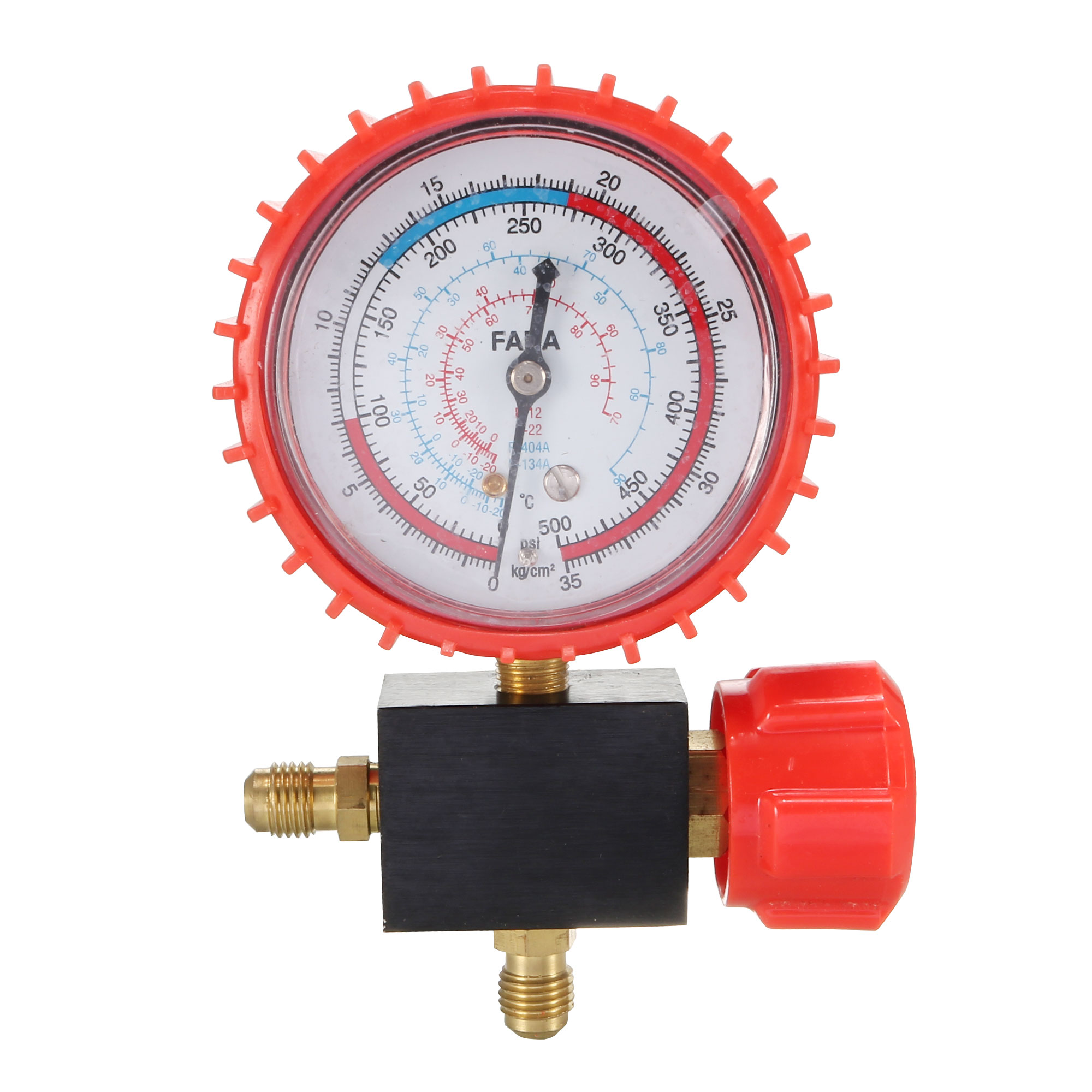 Refrigeration Part 11mm Male Thread Single Manifold Gauge Valve 0-35Kgf/cm2