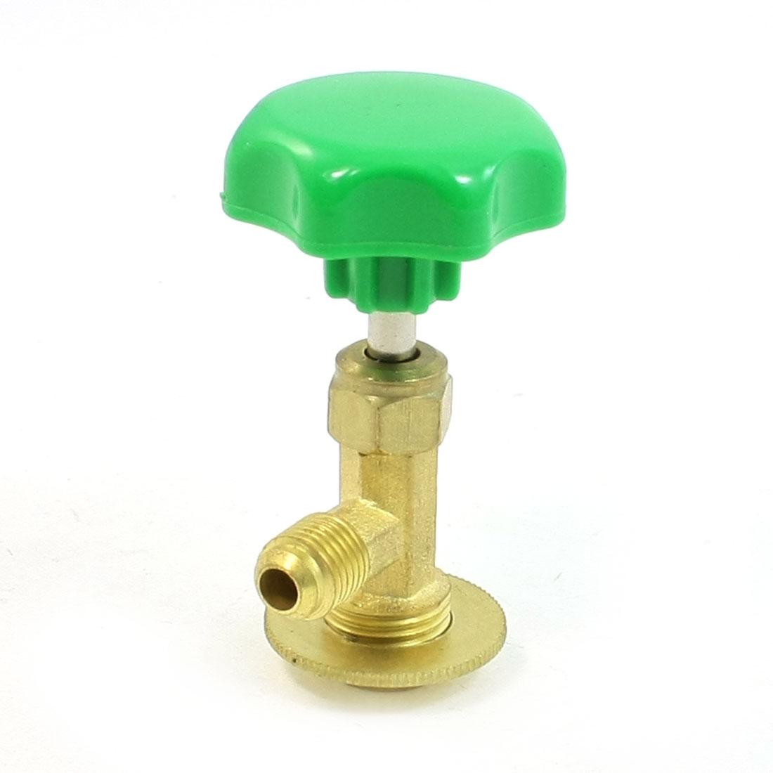 Green Cap Refrigerant Brass Threaded Connetor R12 Can Tap Valve Opener