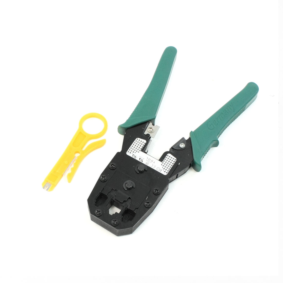 "7.9"" Long Green Handle 8P8C 6P6C 4P4C RJ45 RJ12 RJ11 Crimping Pliers Tool"