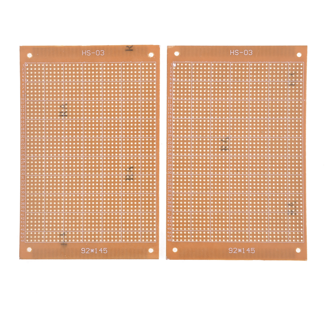 2Pcs Single Side Copper Panel Prototype Matrix Circuit PCB Board 14.5x9.2cm