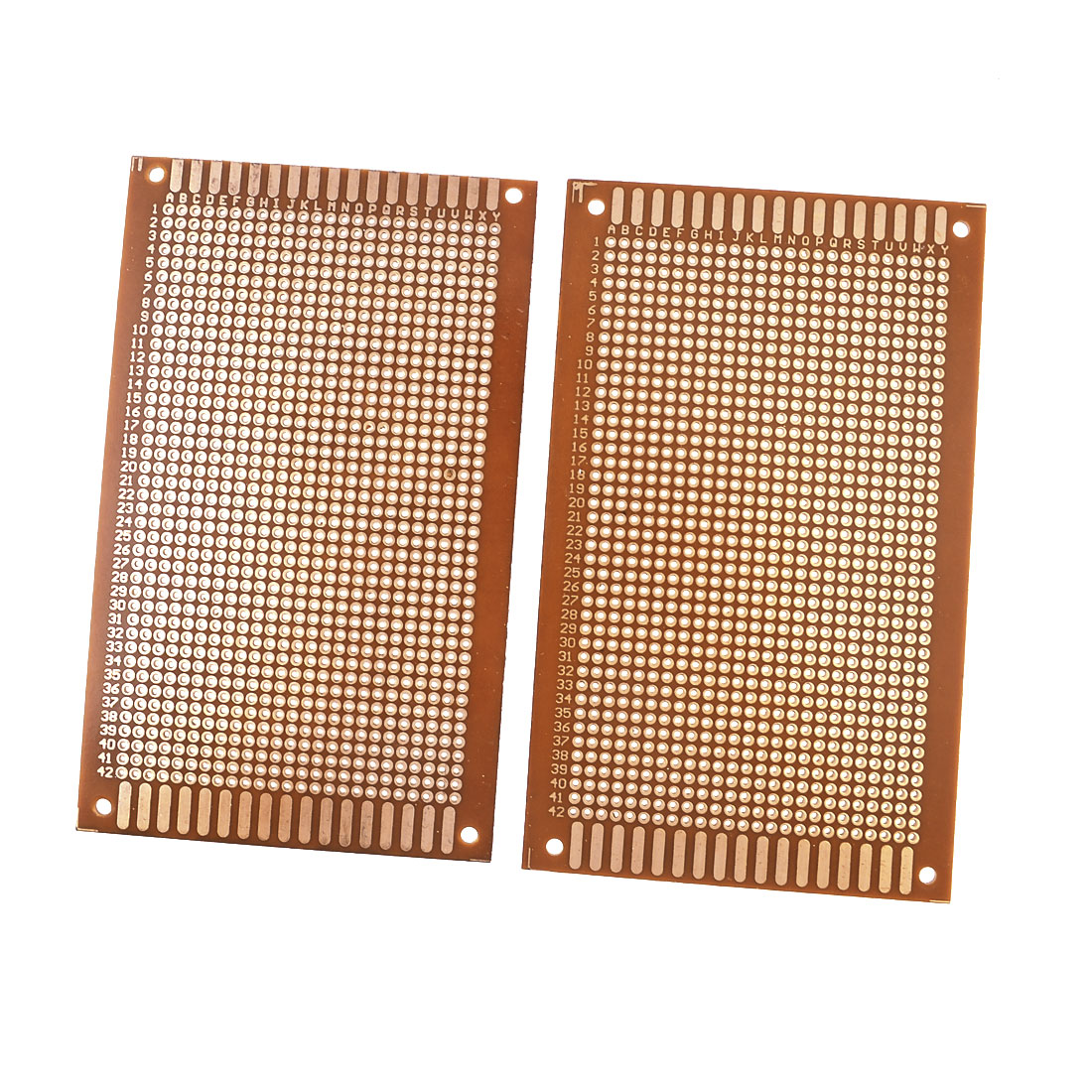 2pcs Rectangle Copper Panel Prototype Matrix Circuit PCB Board 12.5x7.6cm