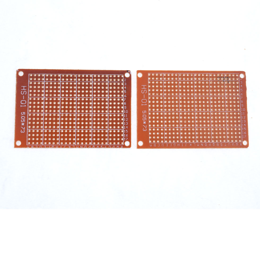 2pcs Prototype Single Side Copper Universal PCB Circuit Board 7.3x5cm