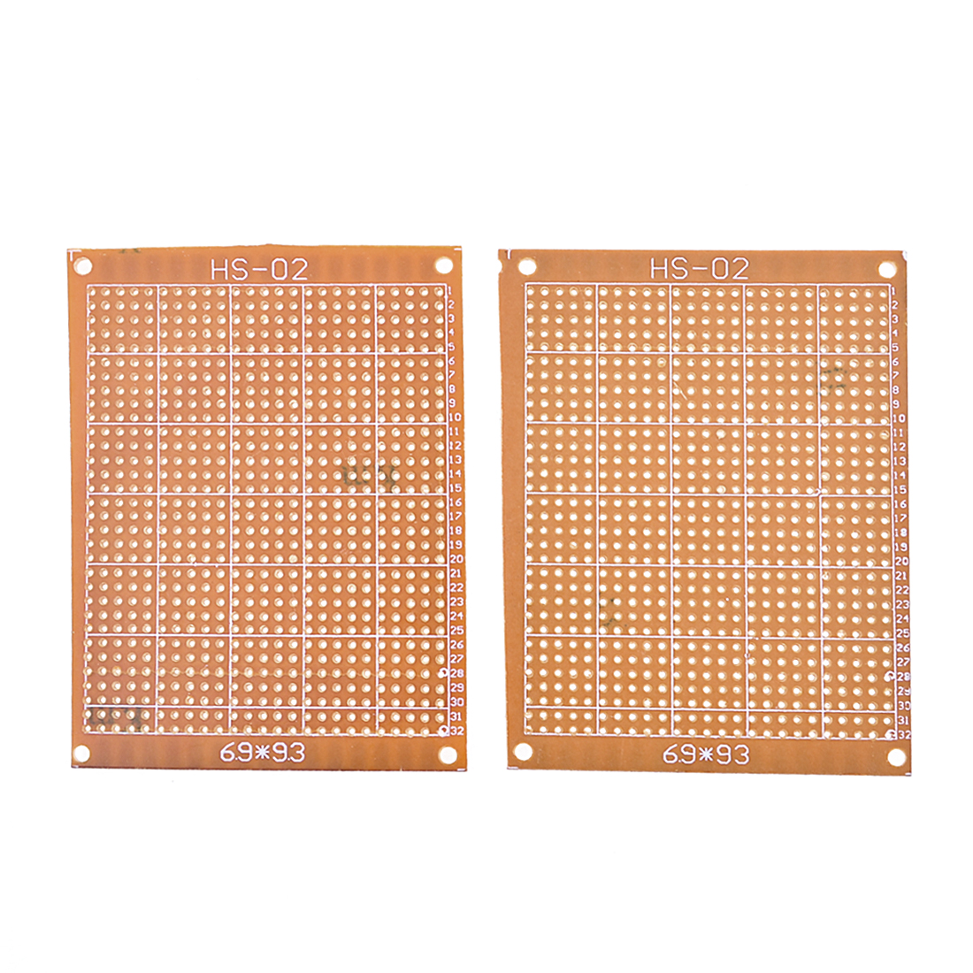 2pcs Prototype Single Side Tinned Universal PCB Circuit Board 6.9x9.3cm
