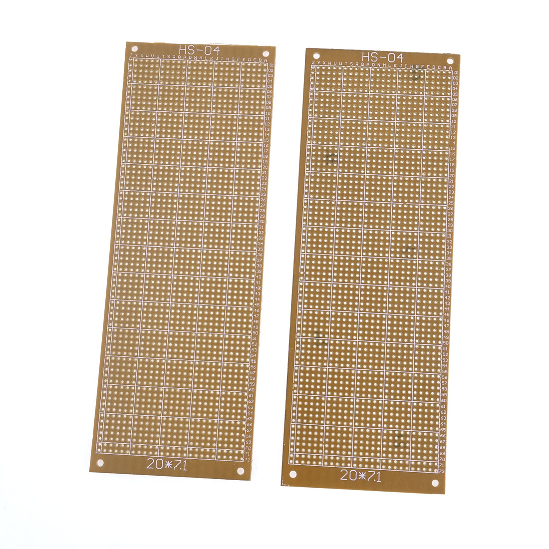 2pcs Rectangle Copper Panel Prototype Matrix Circuit PCB Board 20x7.1cm