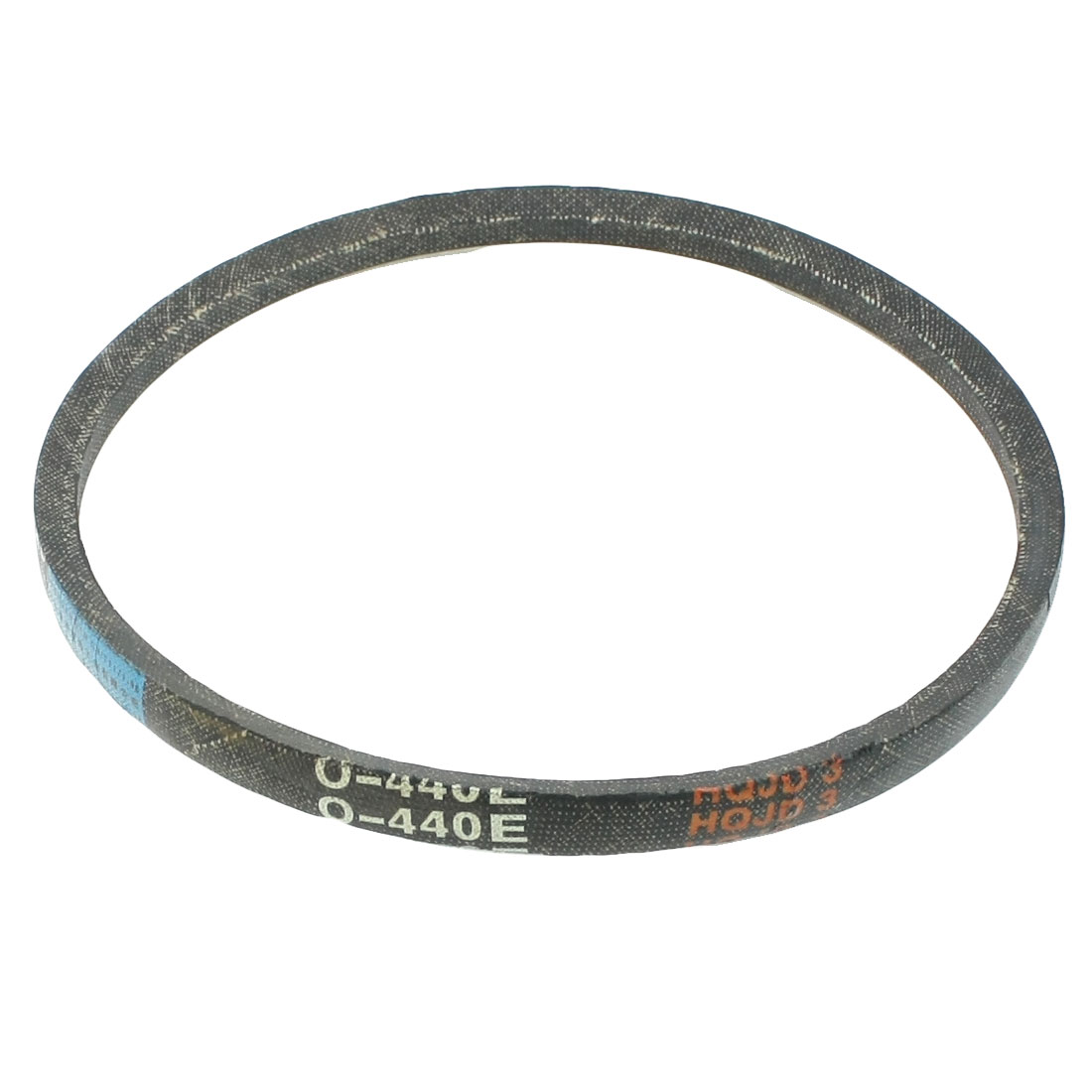 Black Washing Machine Motor O Type V Belt Fit Girth 440mm Top Width 10mm