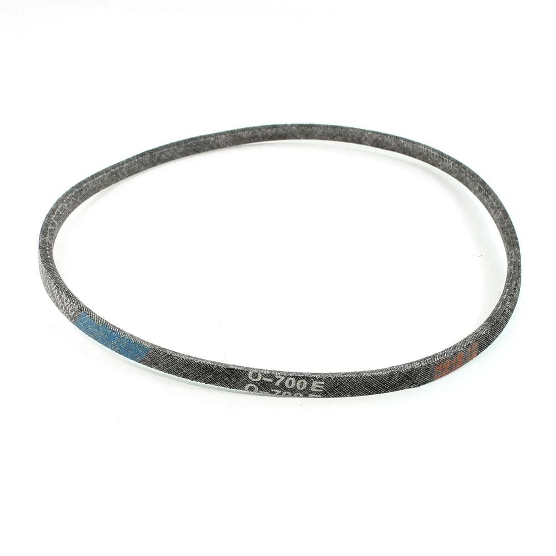 Black Washing Machine Motor O Type V Belt Fit Girth 700mm Thickness 6mm