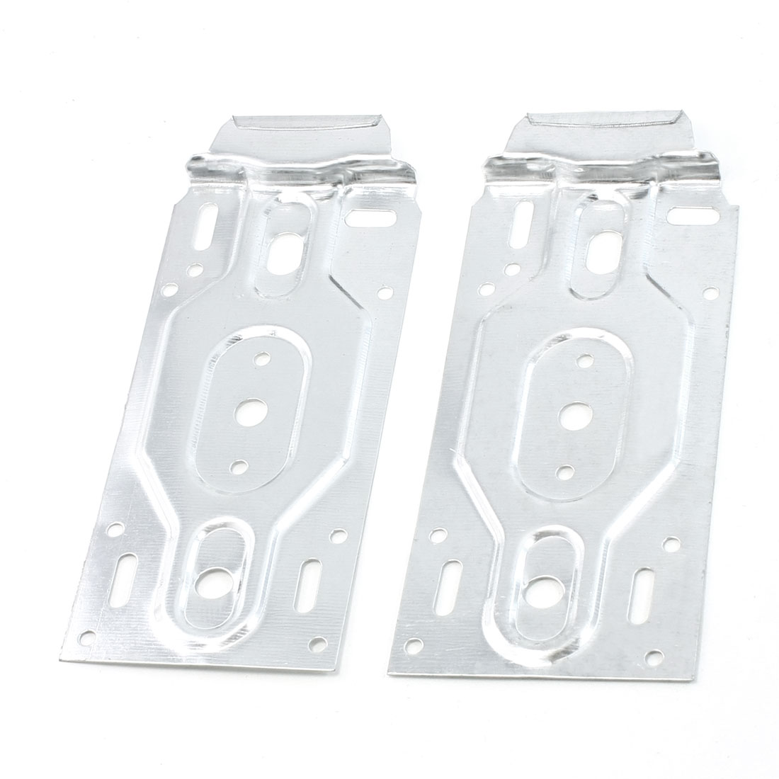 Silver Tone Metal Hollow Out Design Hanging Board Pair for Air Conditioner