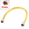 "50cm Long 1/2""PT Thread Flexible Shower Hose Water Heater Tube Pipe Yellow"