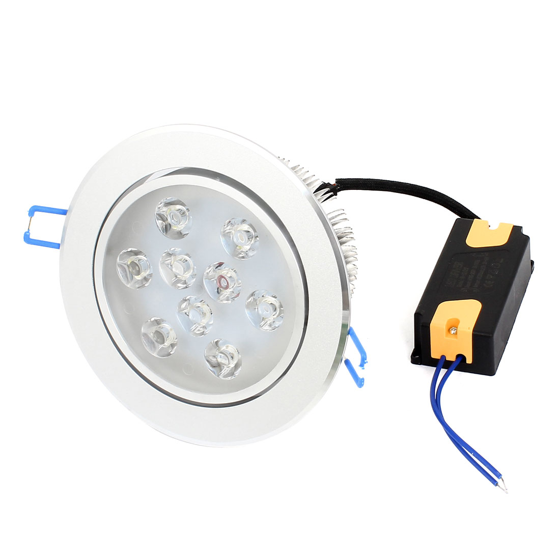 Round Aluminium Alloy Case White 9W 9 LEDs Ceiling Down Light Lamp AC 220-240V