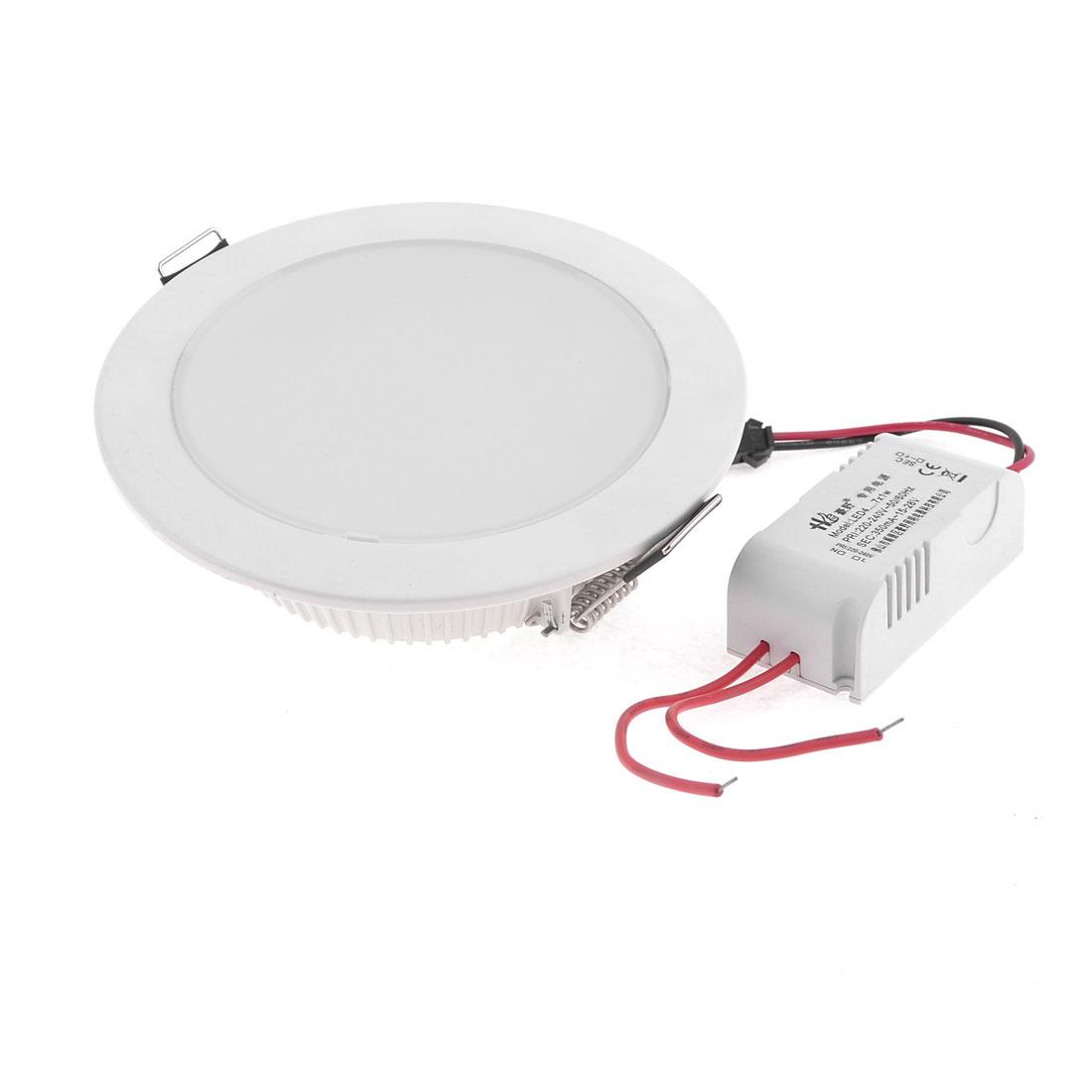 AC 220-240V White 7W 12 LEDs Ceiling Down Light Recessed Bulb w LED Driver
