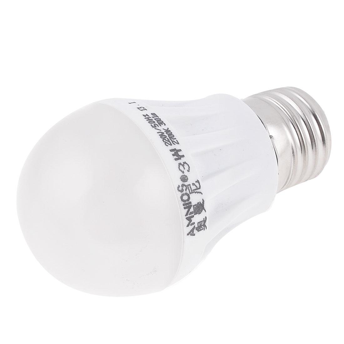 E27 Screw Base Warm White LED Globe Bulb Light Lamp 3W AC 220V
