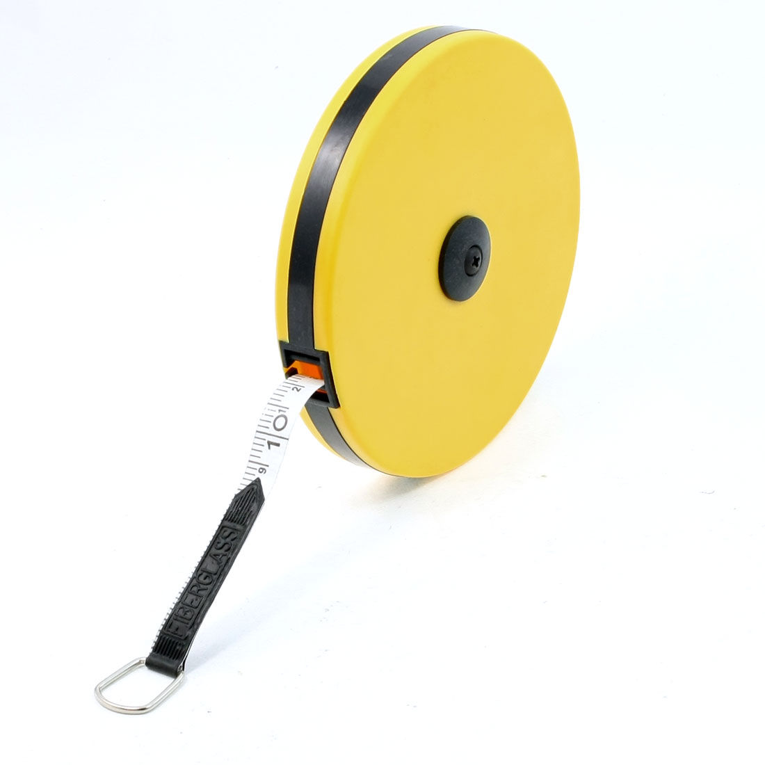 Yellow Plastic Case 30 Meters Metric Retractable Fiberglass Measuring Tape
