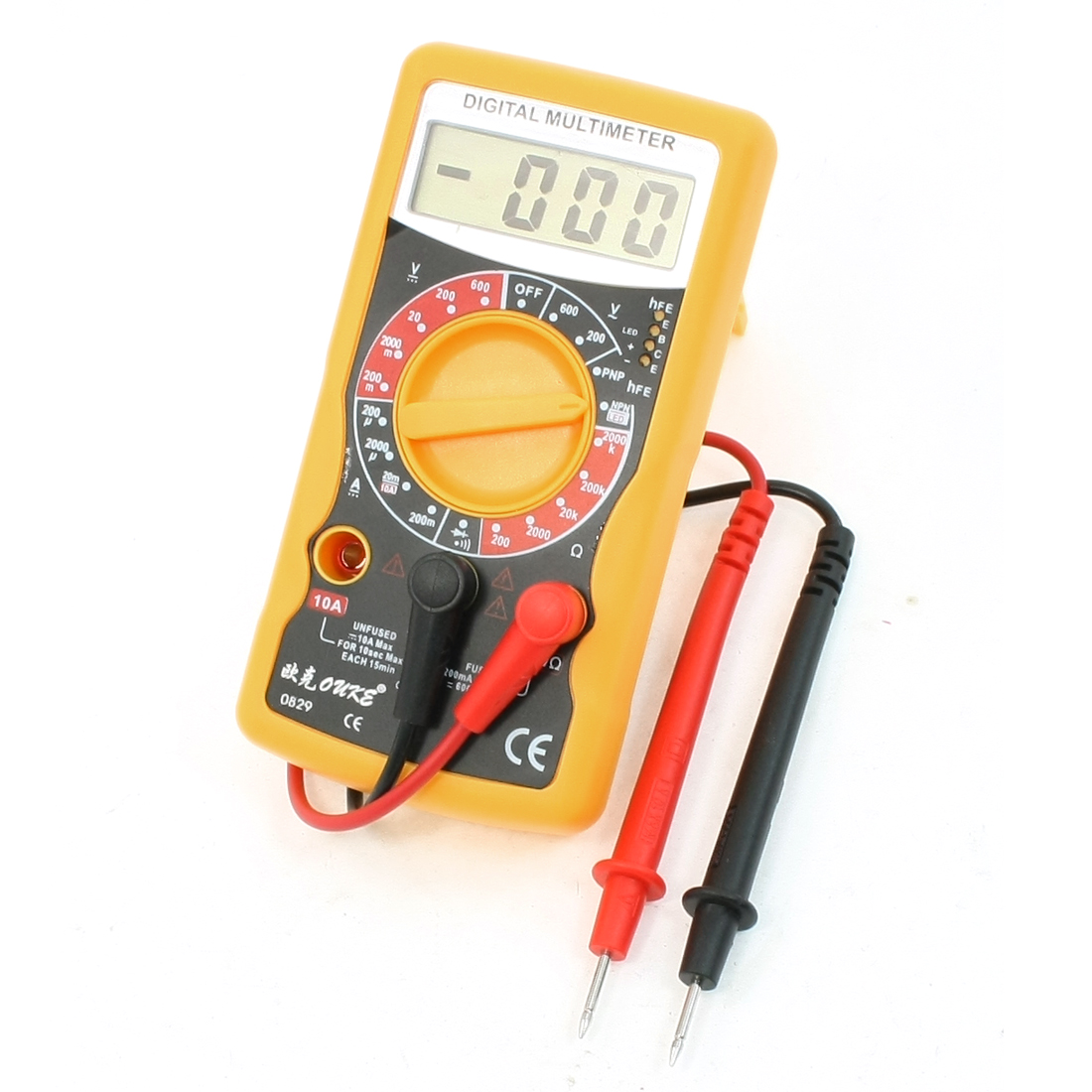 AC DC Voltage Current Testing Gauge LCD Display Digital Multimeter