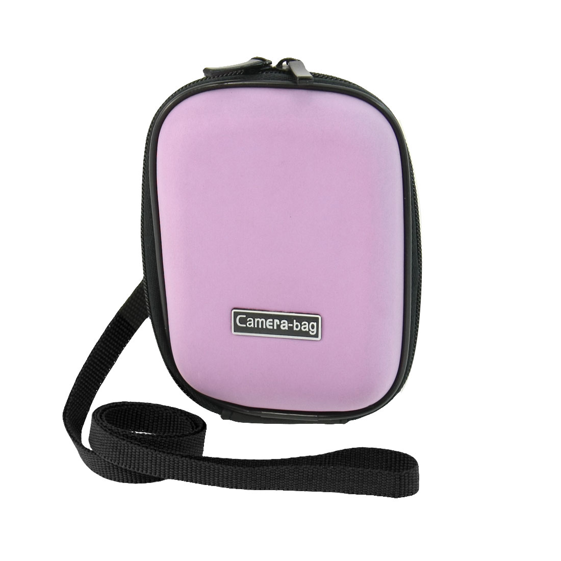 Light Purple Foam Surface Two Way Zippered Sleeve Bag Case for Digital Camera