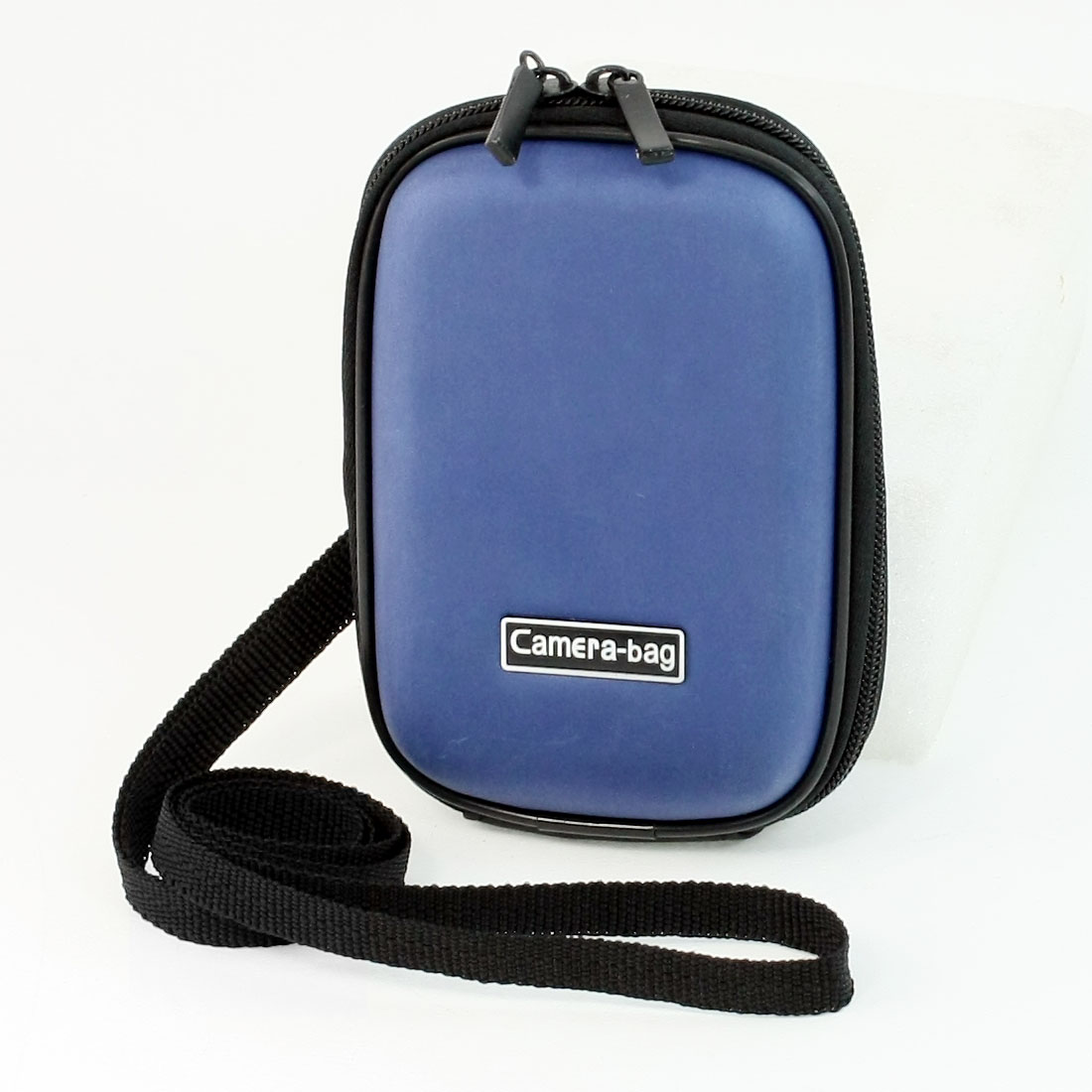 Protable Sky Blue Digital Camera Sleeve Carrying Pouch w Nylon Neck Strap
