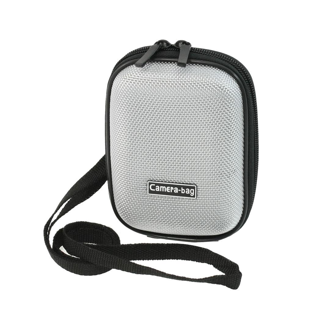 Black Gray Nylon Surface Double Zipper Closure Sleeve Case for Digital Camera